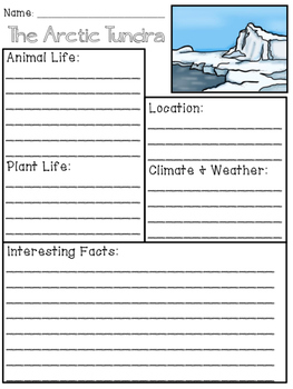 Tundra Biome Organizer