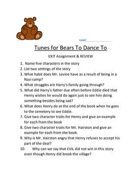 Tunes For Bears To Dance To Quiz