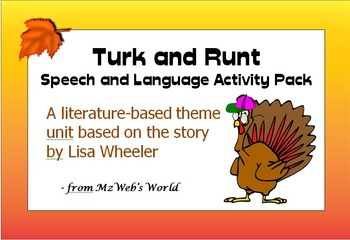 Turk and Runt Speech and Language Activity Pack