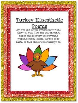 Turkey Action Poems Freebie