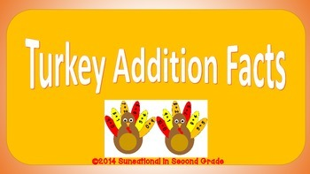 Turkey Addition Facts (#'s 1-10)
