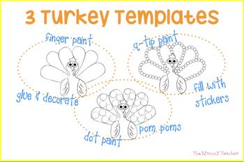 Turkey Template {Art Activities}