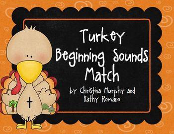 Turkey Beginning Sounds Match