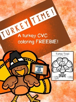 Turkey CVC coloring {FREEBIE}