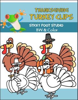 Turkey Clip Art For November and Thanksgiving