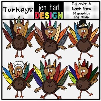 Turkey Clip Art Graphic Set