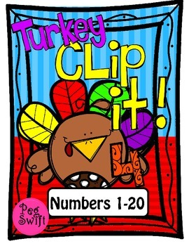 Turkey Clip It! Math Game ~ Counting and Cardinality