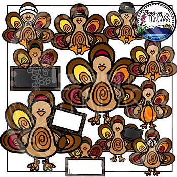 Turkey Clipart Bundle