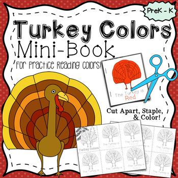 Turkey Colors, Easy-To-Read Mini-Book~ Color & Learn~ Prin