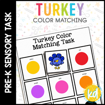 Turkey Color Match File Folder Game for students with Autism