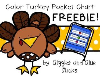 Turkey Colors Pocket Chart and Writing Freebie! (Work Work