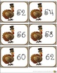 Turkey Counting by Twos Task, Flash, or Math Center Cards