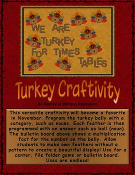 Turkey Craft Activity Bulletin Board Clipart