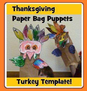 Turkey Craft - Paper Sack Puppet