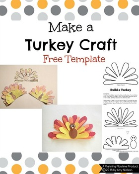 Turkey Craft Printable Template By Planning Playtime Tpt