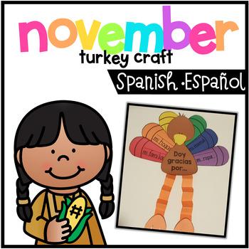 Turkey Craftivity Spanish - Doy gracias por