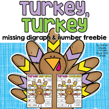 Turkey Digraphs & Numbers {freebie!}