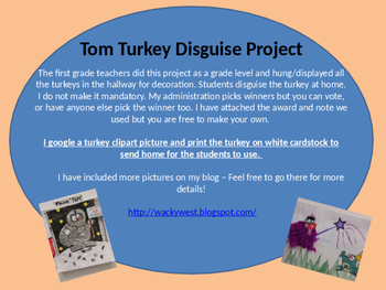Turkey Disguise Project Freebie For Thanksgiving