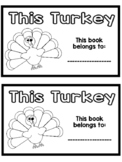 Turkey Emergent Reader Freebie