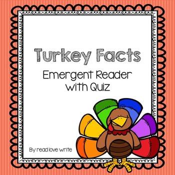 Turkey Facts Emergent Reader with Quiz