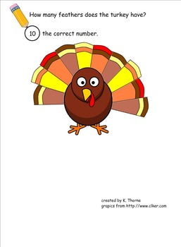 Turkey Feather Count (Smartboard activity)