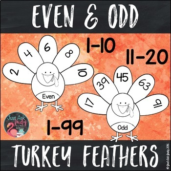 Turkey Feather Even and Odd Numbers