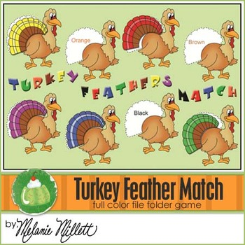 Turkey Feather Match File Folder Game