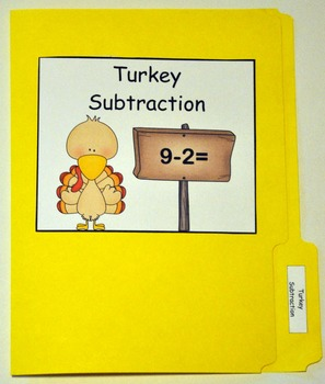 "Turkey File Folder Game:  ""Turkey Subtraction"""