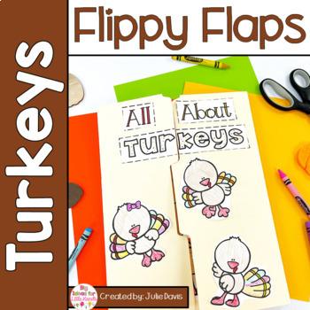 Turkey Flippy Flaps Interactive Notebook Lapbook