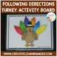 Turkey Following Directions Activity Board