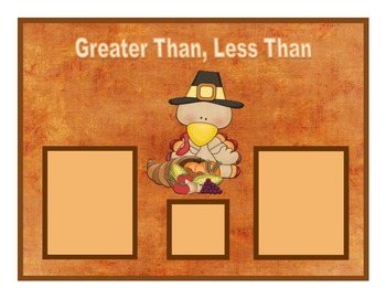 Turkey Greater Than, Less Than