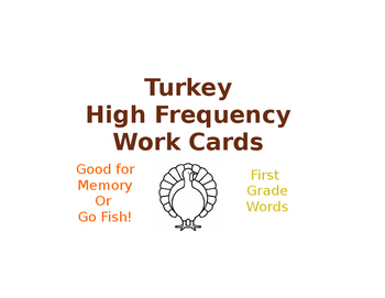 Turkey High Frequency Word Cards
