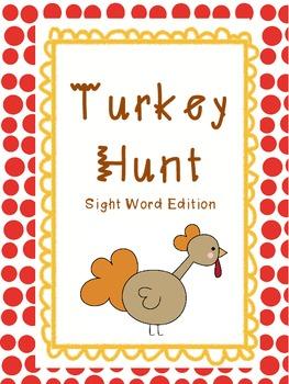 Turkey Hunt Sight Word Edition