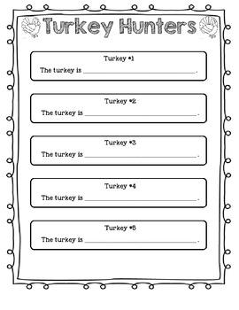 Turkey Hunters- Prepositions