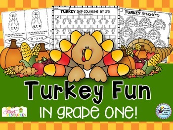 Thanksgiving Activities Turkey ELA and Math