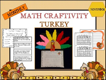 Turkey Math Craftivity- November