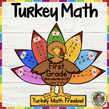 Turkey Math Freebie!  First Grade