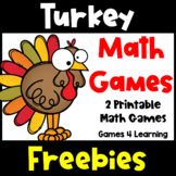 Turkey Free: Turkey Math Board Game