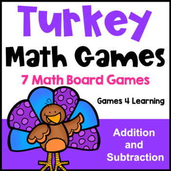 Turkey Math Games Addition and Subtraction: Thanksgiving M