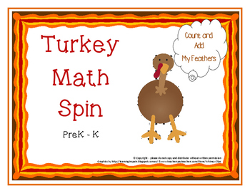 Turkey Math Spin - add count pattern sort.. aligned to Pre