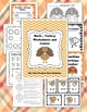 Turkey Math Worksheet & Center (Fractions, Place Value & C