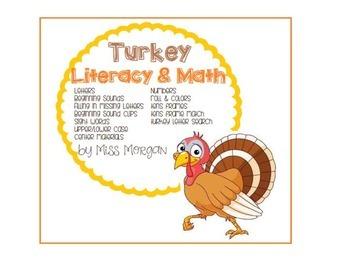 Turkey Math and Literacy Centers