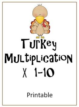 Turkey Multiplication Printable FREE!