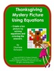 November Turkey Mystery Picture Using Equations