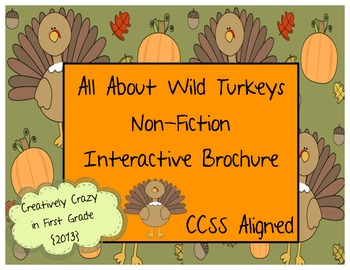 Turkey Non-Fiction Research Interactive Brochure! Great Th