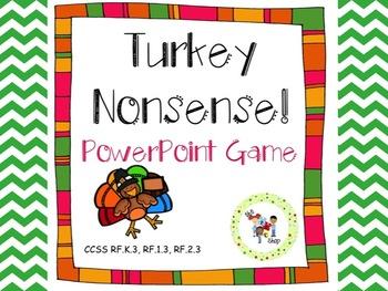 Turkey Nonsense! CVC PowerPoint Game