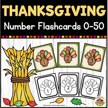 Turkey Number Flashcards 0-50
