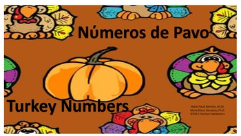 Turkey Numbers-Numeros de Pavo