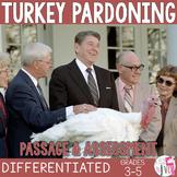 Turkey Pardoning - Close Reading Passage or Mix and Match