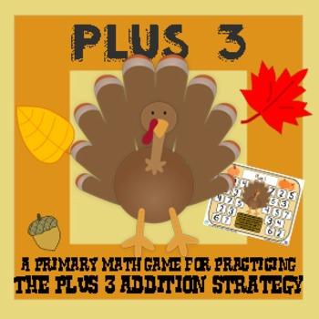 Turkey Plus Three - Thanksgiving Addition Strategy Game -
